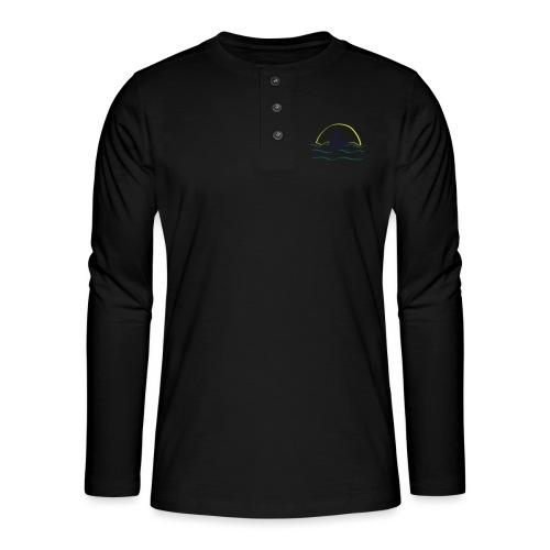 Swan - Henley shirt met lange mouwen
