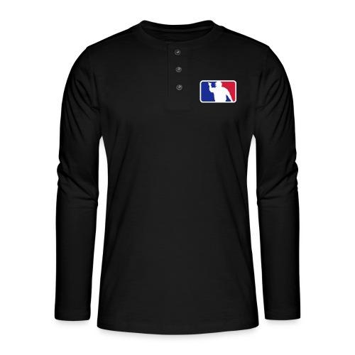 Baseball Umpire Logo - Henley long-sleeved shirt