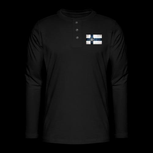 Suomen lippu - Henley pitkähihainen paita