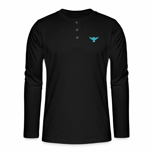 the nordic eagle merch - Henley langermet T-skjorte