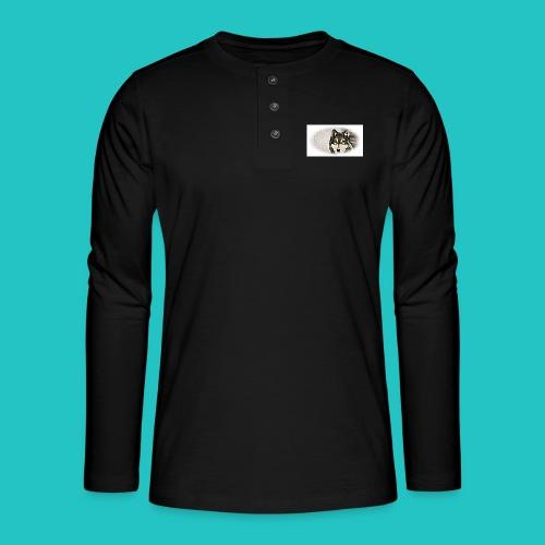 Bluza Wilk - Koszulka henley z długim rękawem