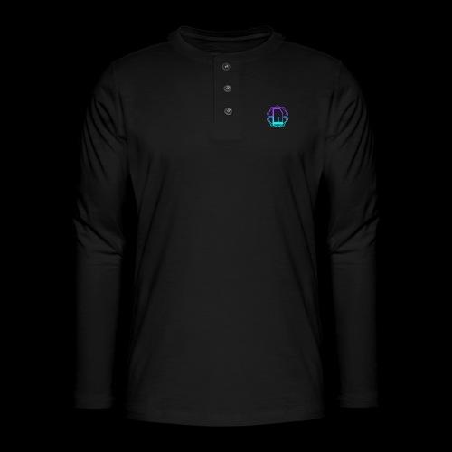 'A' Design Blue Edition - Henley long-sleeved shirt