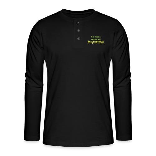 Ilo ilman rottia - vihreä - Henley pitkähihainen paita