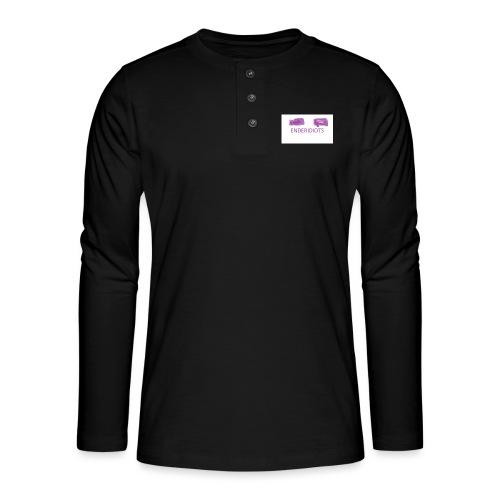 enderproductions enderidiots design - Henley long-sleeved shirt