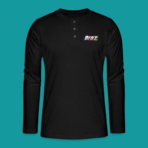 Broz - Henley shirt met lange mouwen