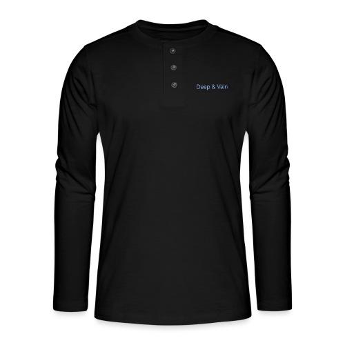 Deep&Vain Text Logo - Henley shirt met lange mouwen