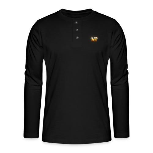 BeastBets - Henley T-shirt med lange ærmer