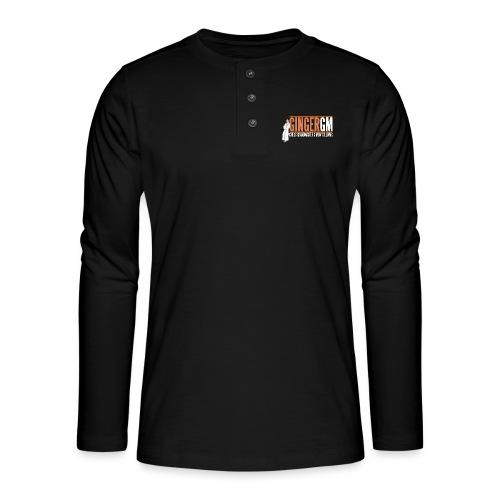 Ginger GM White Logo - Henley long-sleeved shirt