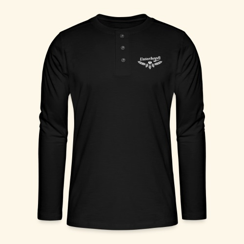 Unterhopft T Shirt - das Original für Biertrinker - Henley Langarmshirt