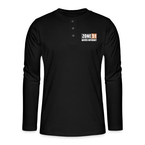 ZONE 51 - ACCES INTERDIT - T-shirt manches longues Henley