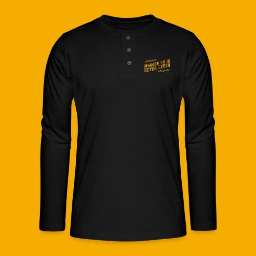 tshirt yllw 01 - Henley shirt met lange mouwen