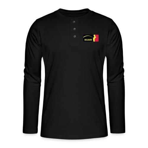 Mannekke Pis, Belgium Rode duivels - Belgium - Bel - T-shirt manches longues Henley