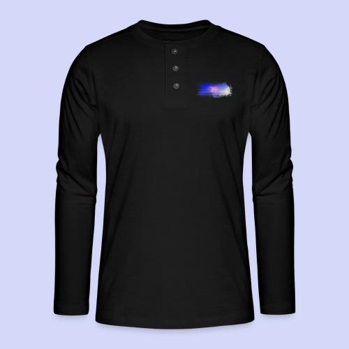 Blue lights - Female shirt - Henley T-shirt med lange ærmer