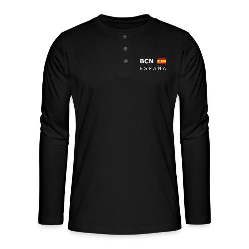 BCN ESPAÑA white-lettered 400 dpi - Henley long-sleeved shirt