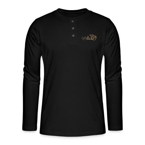 miklof logo gold outlined 3000px - Henley long-sleeved shirt