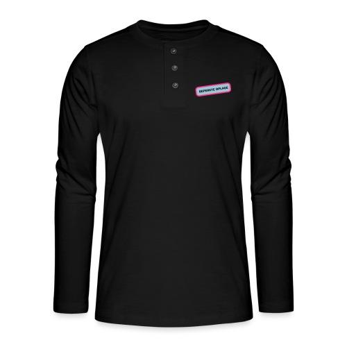 Grappige Rompertjes: Beperkte oplage - Henley shirt met lange mouwen