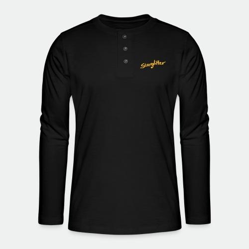 Starglitter - Lettering - Henley long-sleeved shirt