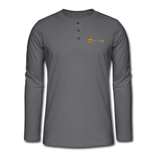 Biker's Hub Logo - Henley long-sleeved shirt