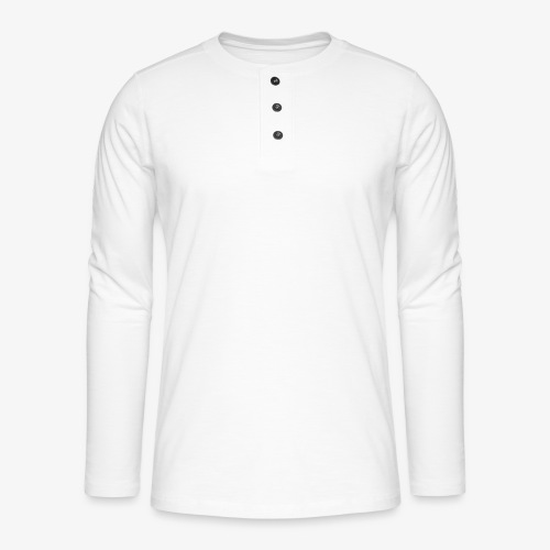 thiccc text logo WHITE - Henley long-sleeved shirt