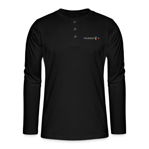 FoundedX logo white png - Henley long-sleeved shirt
