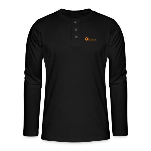Logo DomesSport Orange noBg - Henley Langarmshirt