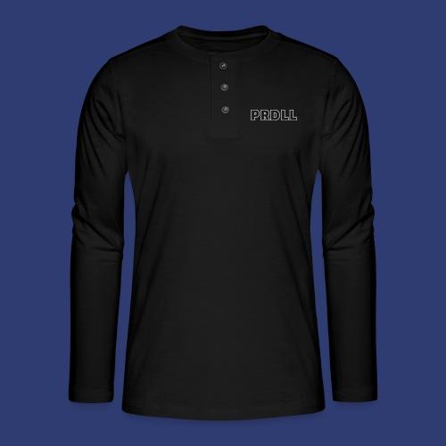 PRDLL White - Henley shirt met lange mouwen