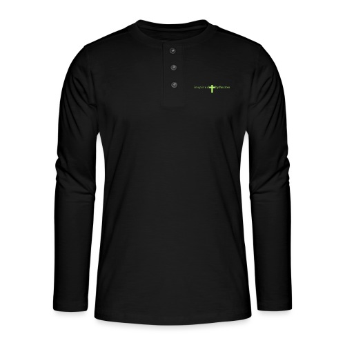 Inspired by the cross - T-shirt manches longues Henley