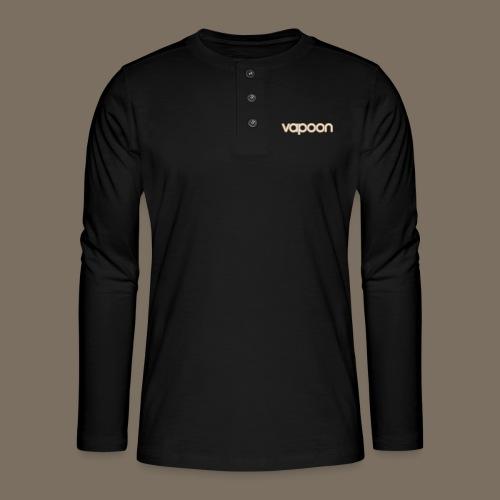 Vapoon Logo simpel 2 Farb - Henley Langarmshirt