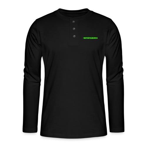 Botervliegmes hoodie (mannen) - Henley shirt met lange mouwen