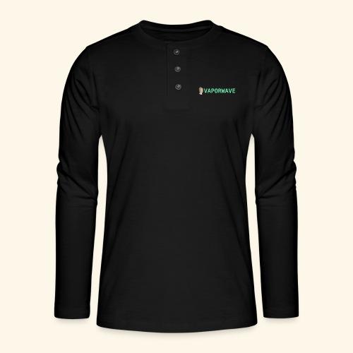 Roman Statue Vaporwave - T-shirt manches longues Henley