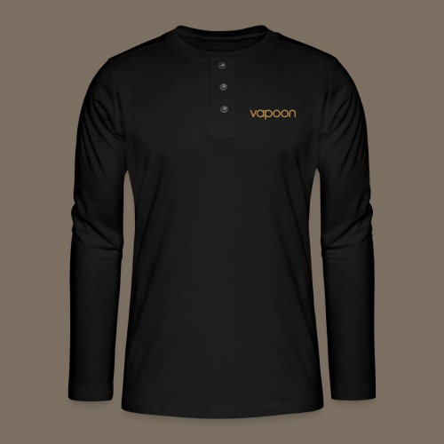 Vapoon Logo simpel 01 - Henley Langarmshirt