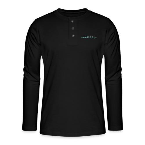 Popup Weddings - Henley long-sleeved shirt