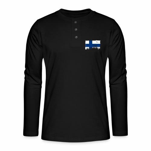 Suomen lippu, Finnish flag T-shirts 151 Products - Henley pitkähihainen paita