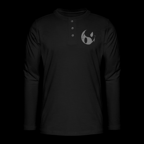 smiley yin yang - Henley long-sleeved shirt