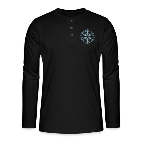 schneeflocke-hellblau-ver - Henley Langarmshirt