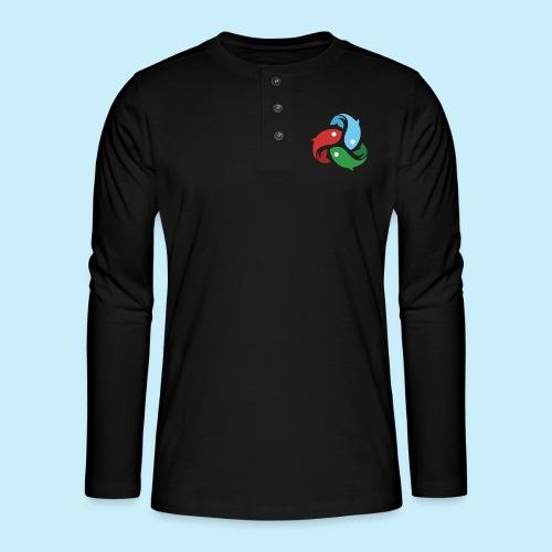 De fiskede fisk - Henley T-shirt med lange ærmer