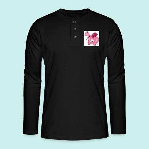 pink_cat - Henley pitkähihainen paita