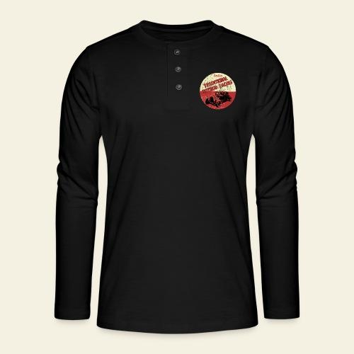hotrod racing logo - Henley T-shirt med lange ærmer
