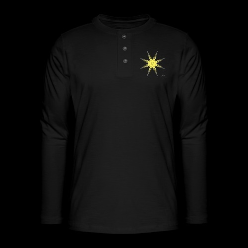 D22 Quiet Sun v1 Yellow - Camiseta panadera de manga larga Henley