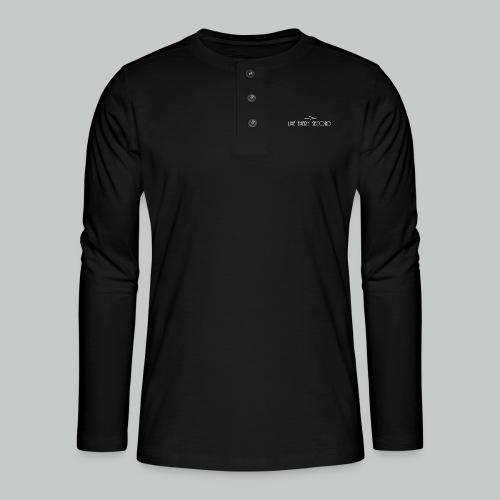 Vertical Heartbeat Cross - Henley long-sleeved shirt