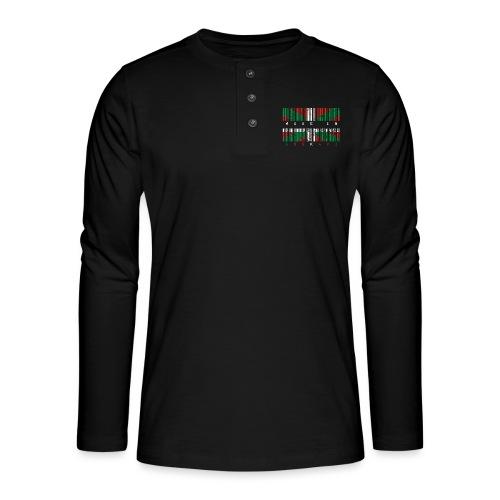 Made in Euskadi Color Grunge - Camiseta panadera de manga larga Henley
