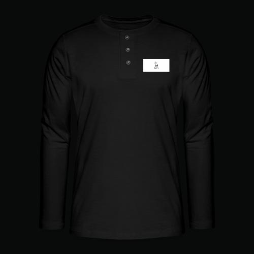 bafti hoodie - Henley T-shirt med lange ærmer