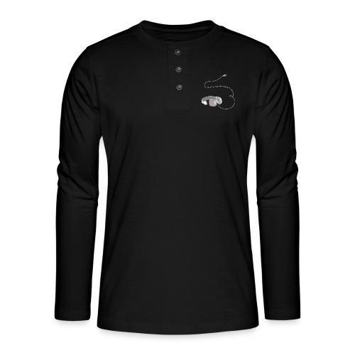 Tee shirt manches longues casque soundtrack - T-shirt manches longues Henley