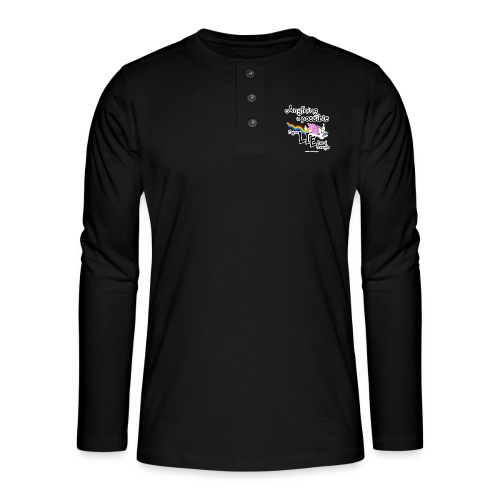 Anything Is Possible if you lie hard enough - Henley long-sleeved shirt