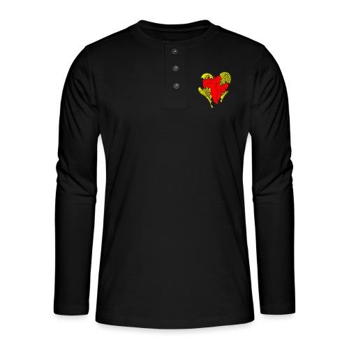 peeled heart (I saw) - Henley long-sleeved shirt