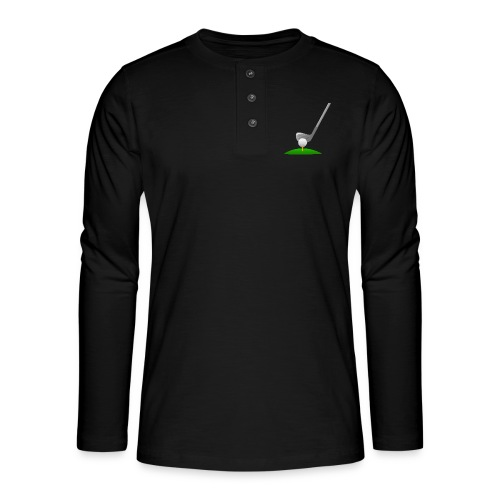 Golf Ball PNG - Camiseta panadera de manga larga Henley