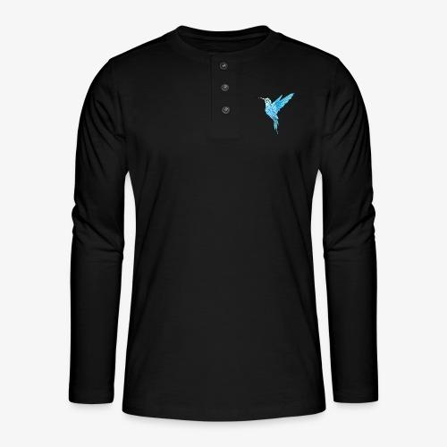 Kolibri Geometrisch - Henley Langarmshirt