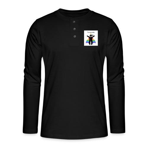 LGBT Transgender - Henley T-shirt med lange ærmer