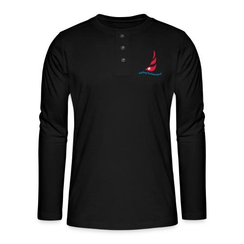logo sailing switzerland - Henley Langarmshirt