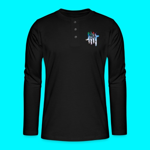 FIVES abstarct - T-shirt manches longues Henley